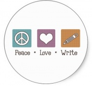 Наклейка Peace Love Write
