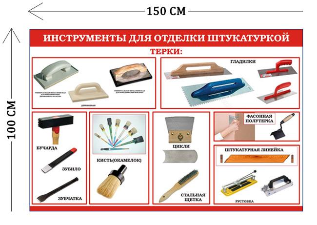 Инструменты для отделки штукатурки