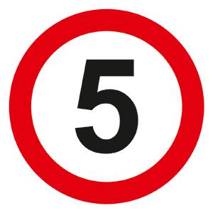 знак ограничения скорости с предписывающим знаком