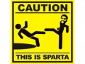 Наклейка на автомобиль Caution. This is Sparta
