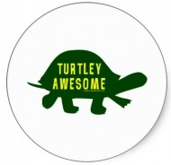 Наклейка Turtley Аwesome